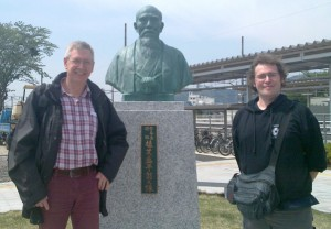 Founder's Statute at Iwama Railway Station 20130429_0021